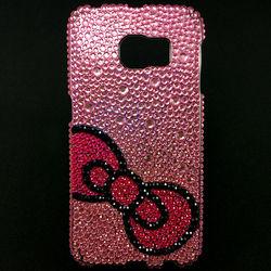 Capa para Galaxy S6 Edge G925 de TPU com Strass - Top Rosa