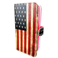 Capa para Galaxy S6 G920 de Couro Sintético Estilo Carteira - USA