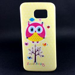 Capa para Galaxy S6 G920 de TPU - Coruja | Amarela