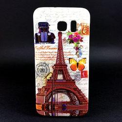 Capa para Galaxy S6 G920 de TPU - Torre Eiffel | Bege