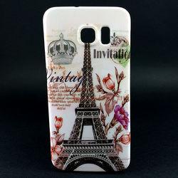 Capa para Galaxy S6 G920 de TPU - Torre Eiffel | Branca