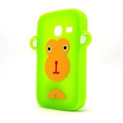 Capa para Galaxy Y Duos S6102 de Silicone Formato Macaco - Verde