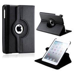 Capa para iPad 2, 3 e 4 de Couro Sintético com Rotação de 360 Graus - Preta