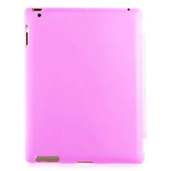 Capa para iPad 2, 3 e 4 traseira de Plástico Compatível com Smart Cover - Rosa