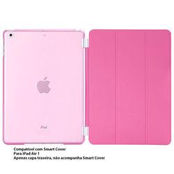 Capa para iPad Air 1 traseira de Plástico compatível com Smart Cover - Rosa Transparente