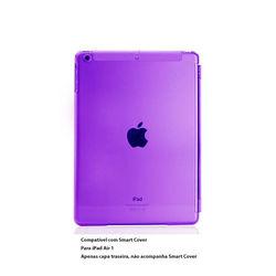 Capa para iPad Air 1 traseira de Plástico compatível com Smart Cover - Roxo Transparente