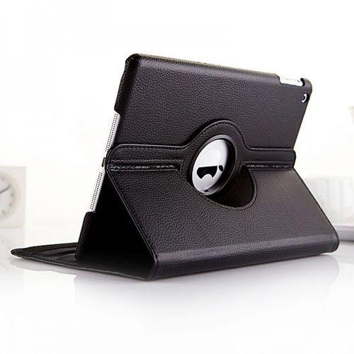 Capa para iPad Air 2 de Couro Sintético com Rotação de 360 Graus - Preta