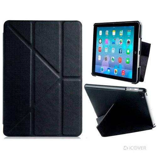 Imagem de Capa para iPad Mini 1, 2 e 3 de Couro Sintético Origami - iCover | Preto