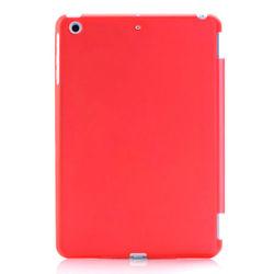 Capa para iPad Mini 1, 2 e 3 traseira de Plástico compatível com Smart Cover - Vermelha