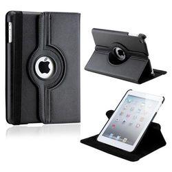 Capa para iPad Mini de Couro com Rotação de 360 Graus - Preta