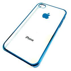 Capa para iPhone 4 e 4S de Acrílico com Traseira Transparente - Azul