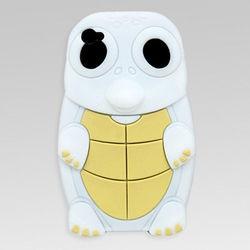 Capa para iPhone 4 e 4S de Silicone 3D Tartaruga - Branco