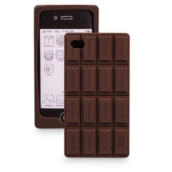Capa para iPhone 4 e 4S de Silicone - Barra de Chocolate