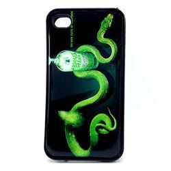 Capa para iPhone 4 e 4S de TPU - Absolut Vodka com Cobra