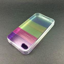 Capa para iPhone 4 e 4S de TPU - Arco-Íris