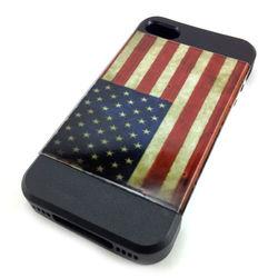 Capa para iPhone 4 e 4S de TPU com Estampa em Plástico - USA