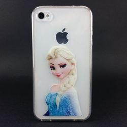 Capa para iPhone 4 e 4S de TPU - Frozen 2
