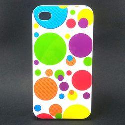 Capa para iPhone 4 E 4S de TPU Petit Poa - Branco Colorido 1