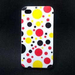 Capa para iPhone 4 E 4S de TPU Petit Poa - Branco Colorido 3