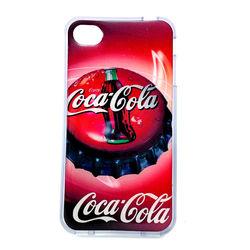 Capa para iPhone 4 e 4S de TPU Transparente - Coca Cola Tampinha