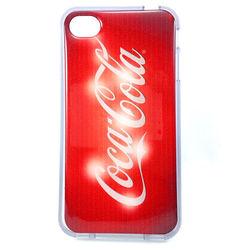 Capa para iPhone 4 e 4S de TPU Transparente - Coca Cola Vermelha