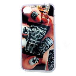 Capa para iPhone 4 e 4S de TPU Transparente - Jack Daniels Unhas
