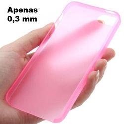 Capa para iPhone 4 e 4S de TPU Ultra Fina - Rosa