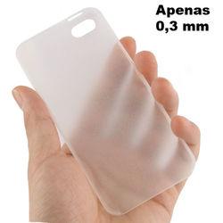 Capa para iPhone 4 e 4S de TPU Ultra Fina - Transparente Fosca