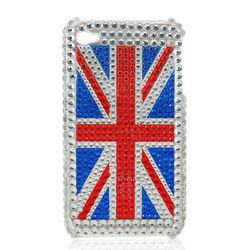 Capa para iPhone 4 e 4S Luxo com Brilhantes - Inglaterra