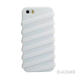 Capa para iPhone 5 e 5S de Silicone com Película - iCover Tractor | Branca