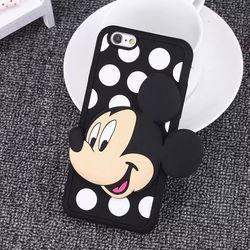 Capa para iPhone 5 e 5S de Silicone - Mickey