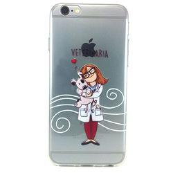 Capa para iPhone 5 e 5S de TPU - Custom Art   Veterinária