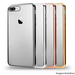 Capa para iPhone 5 e 5S de TPU - Transparente com Borda Cromada
