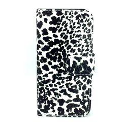 Capa para iPhone 5 e 5S Estilo Carteira | Onça Branco