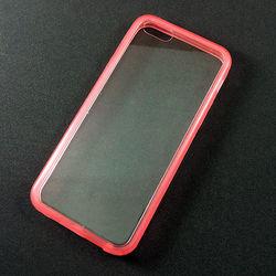 Capa para iPhone 5C de Acrílico com Traseira Transparente - Lateral Rosa