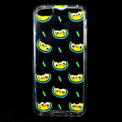 Capa para iPhone 5C de TPU - Melancias | Com olhinhos
