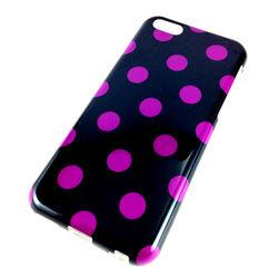 Capa para iPhone 5C de TPU Petit Poa - Preto com Roxo