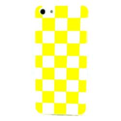 Capa para iPhone 5C de TPU Xadrez - Amarelo