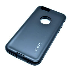 Capa para iPhone 6 e 6S de Plástico e Silicone - Anti Shock | Preta