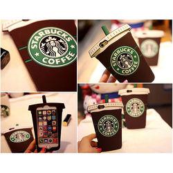 Capa para Iphone 6 e 6S de Silicone 3D - Starbucks | Marrom