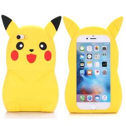 Capa para iPhone 6 e 6S de Silicone - Pokemon | Pikachu