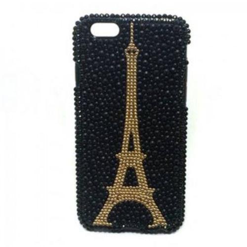 Imagem de Capa para iPhone 6 e 6S de TPU com Strass - Torre Eiffel