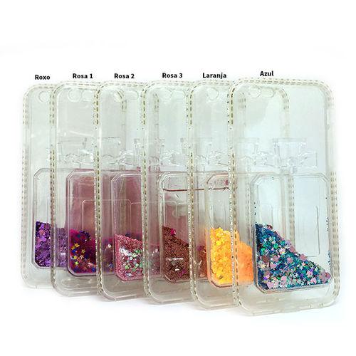 Imagem de Capa para iPhone 6 e 6S de TPU - Perfume com Glitter