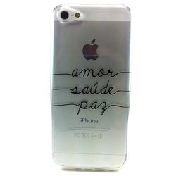 Capa para iPhone 6 Plus e 6S Plus de TPU - Custom Art | Amor, Saúde e Paz