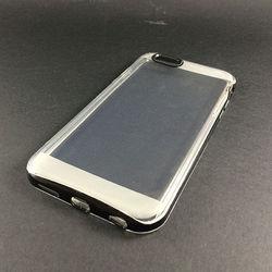 Capa para iPhone 6 Plus e 6S Plus de TPU Dual Color - Transparente com preto