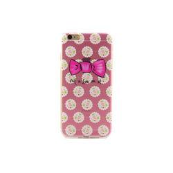 Capa para iPhone 6 Plus e 6S Plus de TPU - Laço e Flores | Rosa