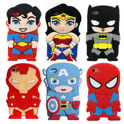 Capa para iPhone 7 de Silicone 3D - Super Heróis