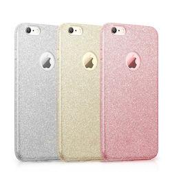 Capa para iPhone 7 e 8 de Plástico com Glitter