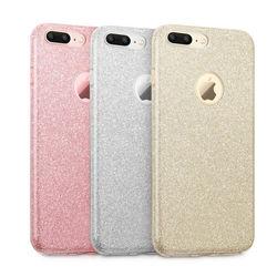 Capa para iPhone 7 Plus de Plástico com Glitter
