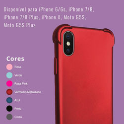 Capa para iPhone 7 Plus e 8 Plus de TPU Anti Shock - Colorida